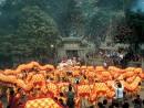 春節の恒例行事、媽閣廟前のドラゴンダンス (c) MGTO 旅遊局