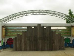 4箇所ある観鳥台。今年、屋根も整備された (c) DSPA 環境保護局