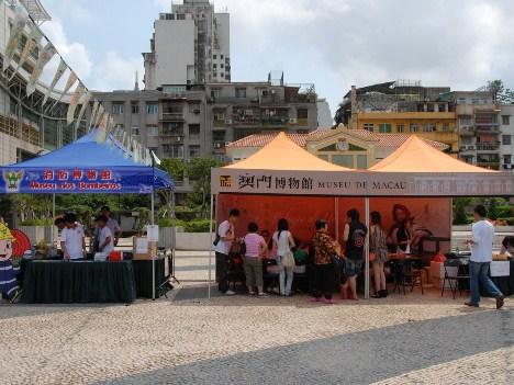 2012年にはマカオの博物館が一堂に会した記念イベントが塔石広場で開催された(写真:ICM)