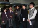 フェリーターミナルの視察を行う港務局黃穗文局長、18日 (c) 港務局