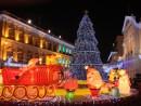 毎年デザインが変わるセナド広場のクリスマスツリー(写真は2012年)―本紙撮影