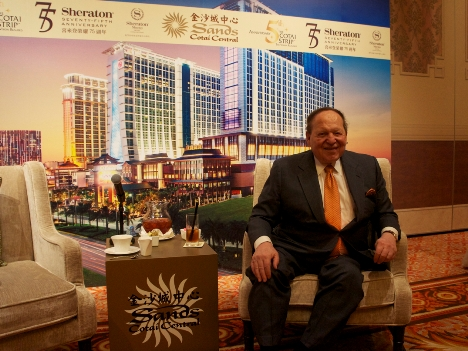 中国の反汚職運動収束でマカオのVIPカジノ売上回復へ―アデルソン氏語る