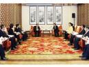 広東省指導部との会談に臨む崔世安マカオ特別行政区行政長官 (c) GCE 行政長官辦公室