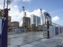 サンズチャイナ社がコタイ地区で建設を進める新リゾート「パリジャン」—本紙撮影