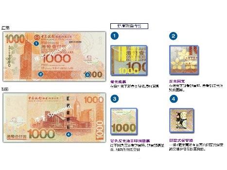 新種の偽1000香港ドル札見つかる―中銀香港08年版に酷似