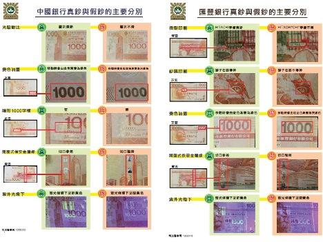 マカオのカジノで偽1000香港ドル札1枚見つかる