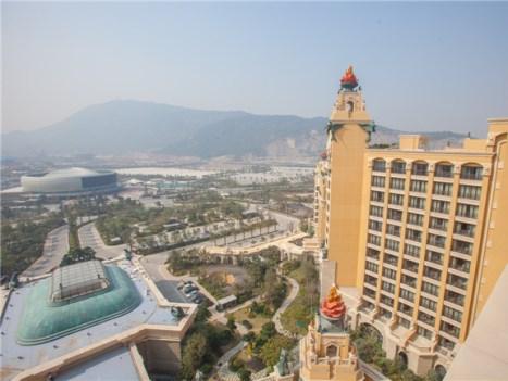 横琴湾ホテルからリゾート敷地を望む(长隆集团)