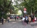 休憩スペースへ用途変更されるマカオ博物館前駐車場(交通事務局)