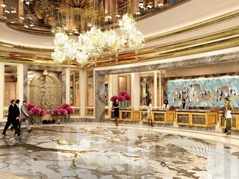 リスボアパレスホテルのロビー完成予想イメージ(SJM Holdings)