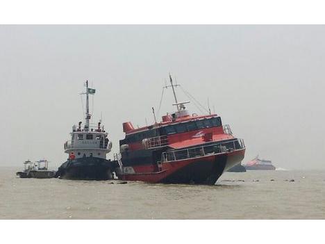 高速船衝突、事故原因は操縦ミスか