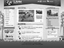 哀悼の意を表すモノクロ画面となったマカオジャイアントパビリオンのウェブサイト