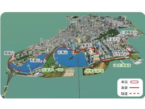 マカオLRTマカオ半島線南部ルート紹介展実施