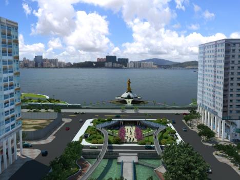 タイパ島側を望むプラン2のデザイン(写真:運輸基建辦公室)