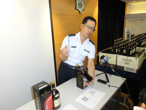 マカオ税関、ニセ洋酒販売店を摘発