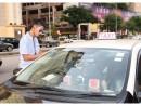 7月10日に行われた治安警察局と交通事務局合同の一斉摘発の様子(写真:治安警察局)