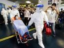 昨年(2014年)8月22日にマカオ衛生局など関連部門が合同で実施したエボラ出血熱対策演習の様子(資料)=マカオ外港フェリーターミナル(写真:GCS)