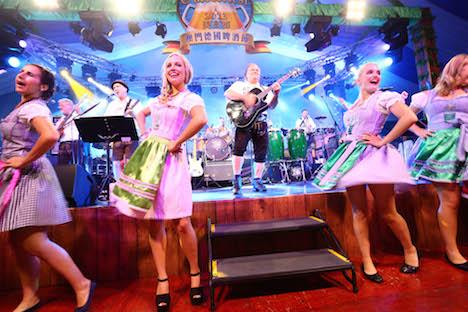昨年(2014年)のMGMオクトーバーフェストの音楽パフォーマンス(写真:MGM Macau)