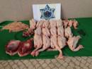 10月15日の事案で押収された未検疫肉類(写真:澳門海關)