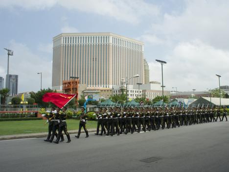 人民解放軍駐マカオ部隊 年末恒例の交代完了 住民へ配慮で未明に実施