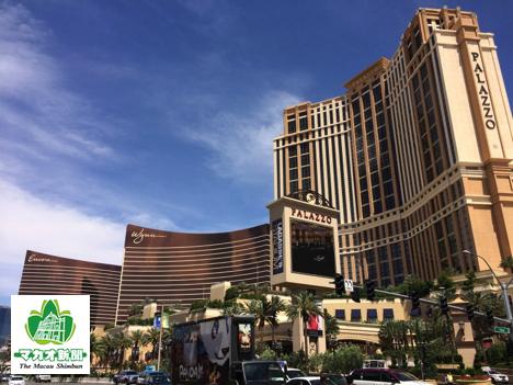 ラスベガス・ストリップ地区に建つカジノ付き大型IR(統合型リゾート)施設群(イメージ)=2014年5月、米国・ネバダ州—本紙撮影