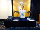事件について解説を行うマカオ税関の報道官(写真:澳門海關)