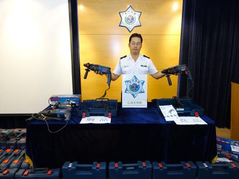 マカオ税関、有名電動工具ブランドのコピー商品販売店を摘発