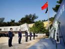 マカオ政府主催が南京事件国家追悼式典を開催。写真中央が崔世安マカオ行政長官=12月13日、マカオ・コロアン島(写真:GCS)