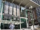 マカオの塔石体育館では中国の南京事件国家追悼日に合わせて写真展「血塗られた歴史-アジア太平洋地区における日本軍国主義の罪」が開催された=12月13日、マカオ