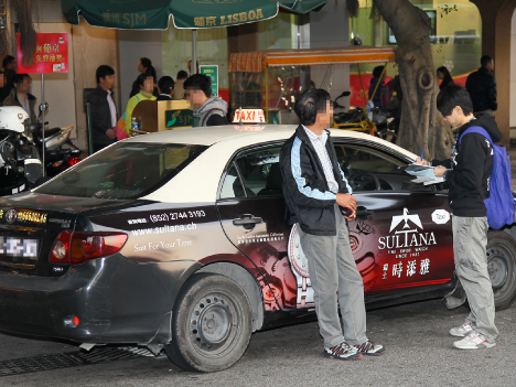 ぼったくりと乗車拒否目立つ=1月マカオの違法タクシー検挙数800件超