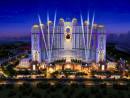 今年(2015年)中頃の開業を予定しているマカオ・コタイ地区の大型IR施設「マカオスタジオシティ」の完成予想イメージ=2015年1月15日(写真:Melco Crown Entertainment Limited)