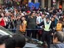 中国本土からの観光客で大混雑となったマカオ旧市街の主要観光地周辺では交通管制が敷かれた(資料)=2月21日(写真:GCS)