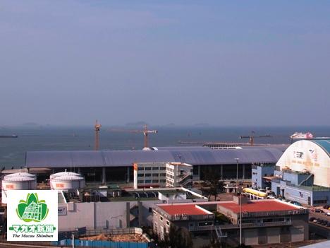 建設中のタイパフェリーターミナル(資料)=2012年12月―本紙撮影