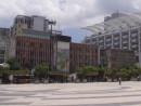 エストリルホテル(花園酒店)跡地=マカオ・塔石広場—本紙撮影