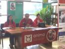 マカオの動物愛護団体アニマ(ANIMA)が開催したドッグレースの廃止を訴える記者会見=4月4日、マカオ・コロアン島のアニマ本部(写真:ANIMA公式ウェブサイトより)