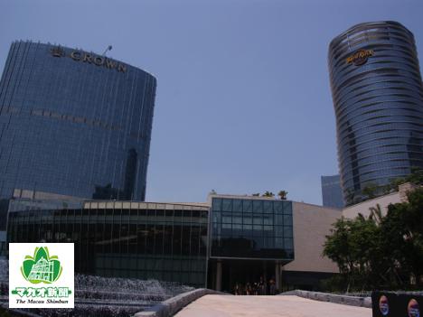 メルコ・クラウン・エンターテインメント社が運営する大型カジノ・IR(統合型リゾート)施設「シティ・オブ・ドリームズ」(資料)=マカオ・コタイ地区—本紙撮影