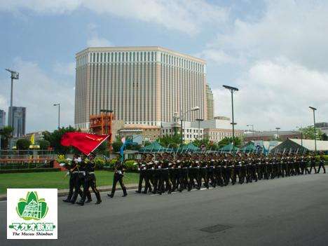 人民解放軍駐マカオ部隊の駐屯地(資料写真)=2012年、マカオ・タイパ島—本紙撮影