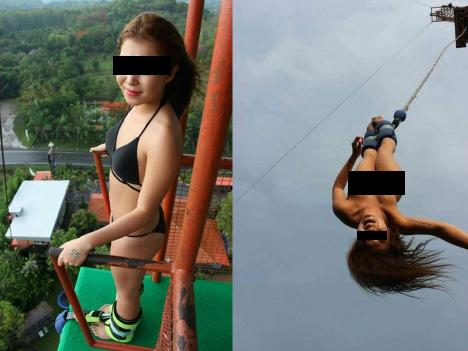 香港女性が全裸でバンジージャンプ、運営側が「品位欠く行為」で罰金科される=タイ・チェンマイ