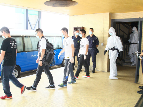 マカオ警察、韓国でのMERS深刻化受け防疫対応力強化図る=感染者搬送演習実施