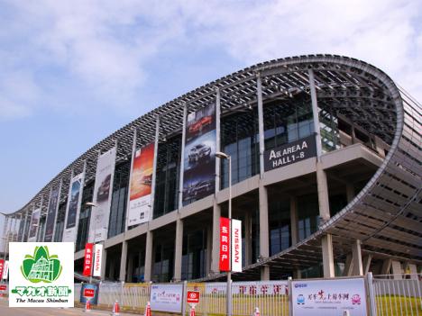 年に2回開催される中国最大規模のトレードショー「広州交易会」や、広州モーターショーなどの会場となる中国進出口商品交易会琶洲展館(資料)=中国・広州—本紙撮影