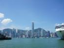 香港の金融街セントラルのビル群を望む町並み(資料)—本紙撮影