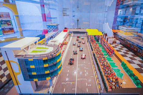 レゴの新シリーズ「スピードチャンピオン」を使って再現されたマカオグランプリ(写真:MGTO)