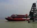 幸運星号。写真は2014年6月の防波堤衝突事故時のもの(写真:マカオ海事・水務局)