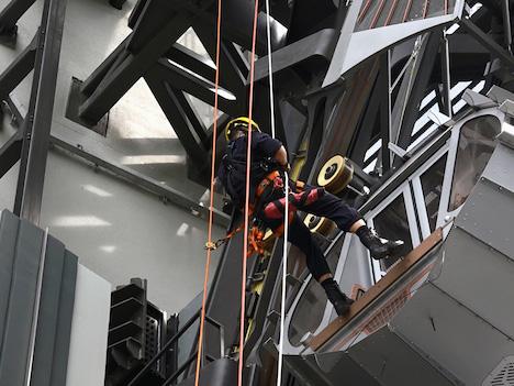 マカオ消防局、世界初の「8の字」観覧車で救出訓練=新IRスタジオ・シティの目玉施設