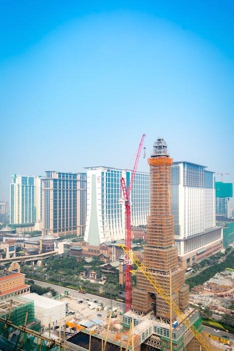 「パリジャンマカオ」エッフェル塔=マカオ・コタイ地区、10月15日(写真:Sands China Limited)