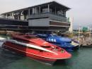 香港とマカオの市街地を結ぶ高速船(資料)=香港・上環のフェリーターミナルにて本紙撮影