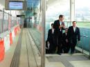 高架駅舎となるオーシャンパーク駅を視察する香港政府運輸住宅局のアンソニー・チャン局長(写真右端)=11月14日(写真:news.gov.hk)