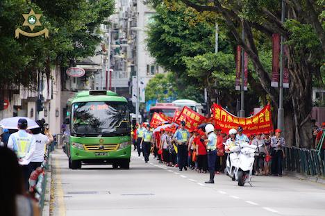 メーデーに合わせて実施されたデモ行進の様子=2015年5月1日(写真:マカオ治安警察局)