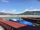 香港国際空港併設のフェリーターミナル、スカイピアに停泊中のコタイウォータージェット(資料)—本紙撮影