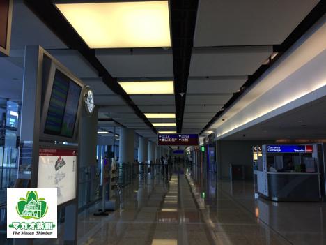 香港国際空港併設のフェリーターミナル、スカイピア出発ホール(資料)—本紙撮影