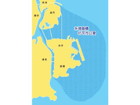 中国、マカオの管理水域明確化=陸地の2.8倍にあたる85平方キロ分